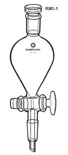透明共通摺合せ 分液ロート ヘルツ型 FU81-1型 100mL 15/25 15/25 桐山製作所(KIRIYAMA)【Airis1.co.jp】