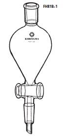 FH81B-1-4 透明共通摺合せ 分液ロート ヘルツ型 本体のみ FH81B-1型 100mL 19/28 19/38 桐山製作所(KIRIYAMA)