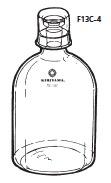 GSK-1 白 二重栓エーテル瓶(GSK) 白 目盛付 1mL 24/20 15/20 桐山製作所(KIRIYAMA)