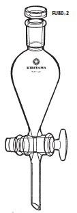 分液ロート スキーブ型 FU80-2型 200mL 24/40 桐山製作所(KIRIYAMA) アイリスDASH!ペーパー