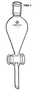 FH80-2-6 分液ロート スキーブ型 本体のみ FH80-2型 300mL 24/40 桐山製作所(KIRIYAMA)