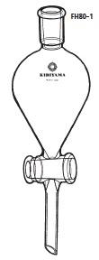 FH80-1-7 分液ロート ヘルツ型 本体のみ FH80-1型 500mL 24/40 桐山製作所(KIRIYAMA)