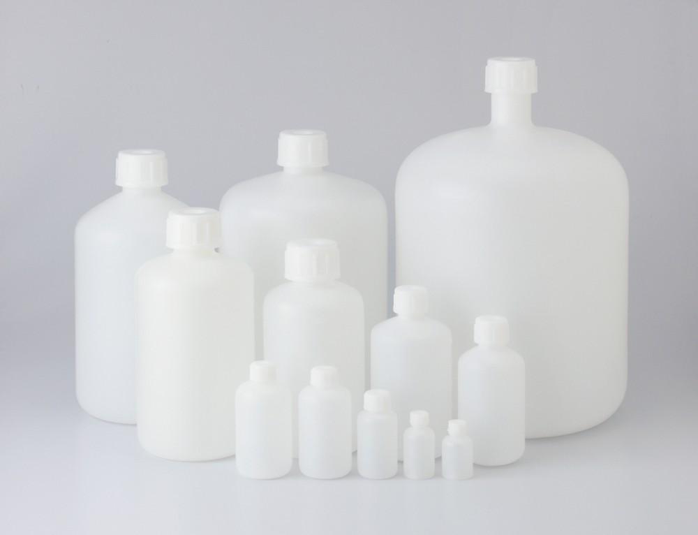 101-5820601 PE細口瓶 白 500mL(24本) コクゴ(KOKUGO)