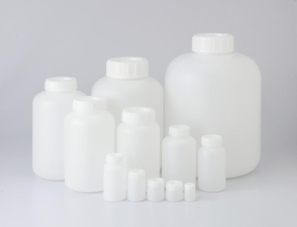 101-5840401 PE広口瓶 白 250mL(60本) コクゴ(KOKUGO)