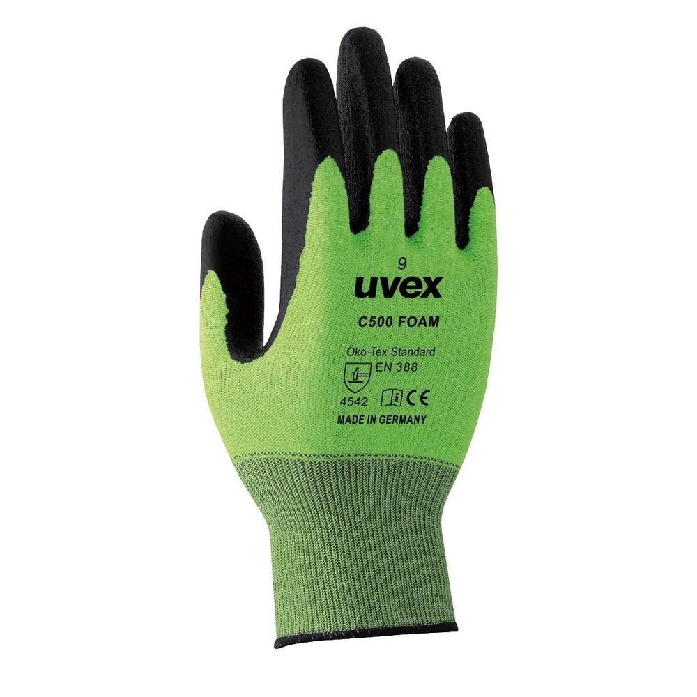 304-0000024 耐切創手袋レベル5 uvex C500foam 60494 サイズ9(L) コクゴ(KOKUGO)