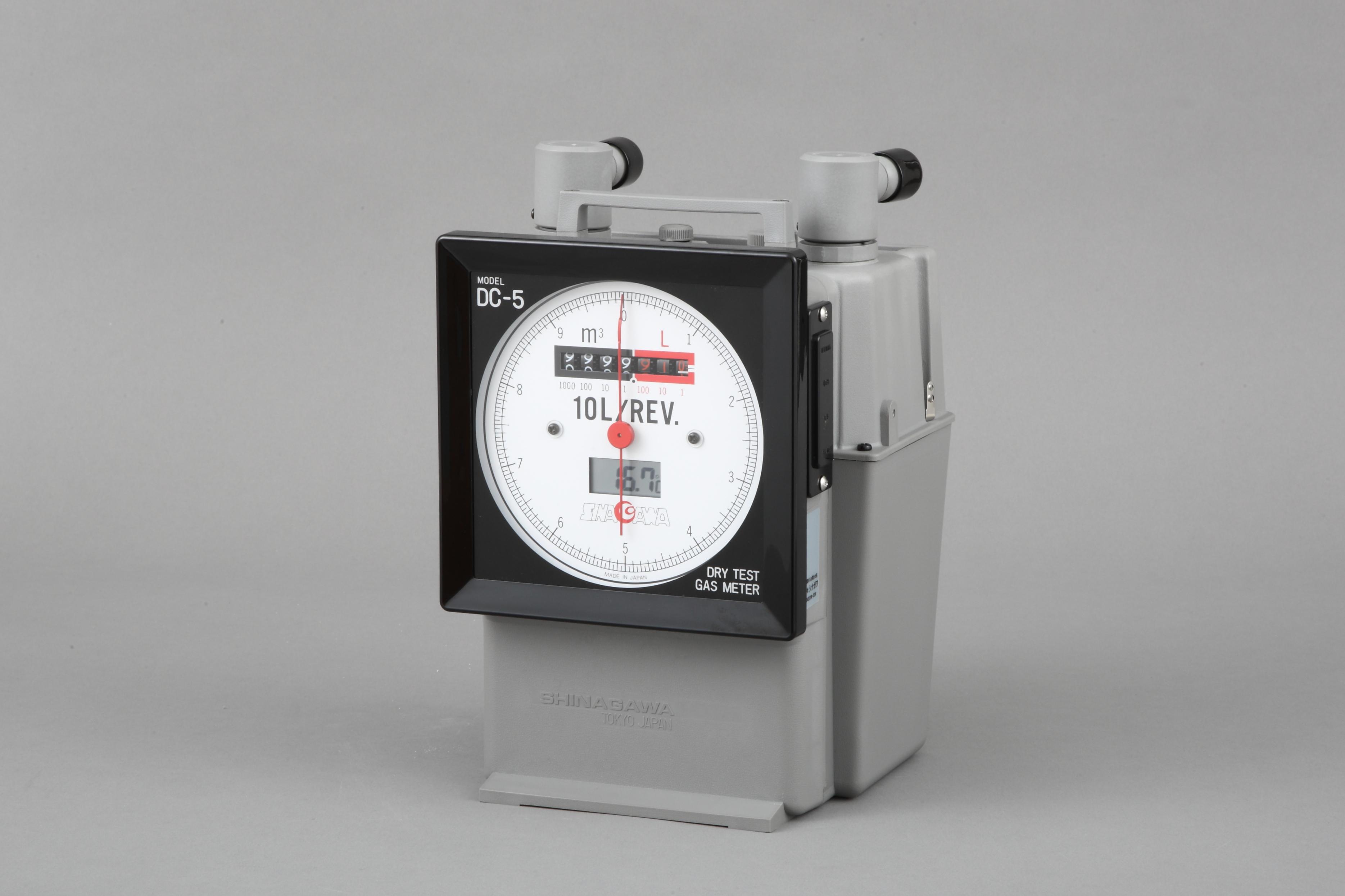 乾式ガスメーター パルス発信器(パルス発信単位:0.01/L)付 DCDa-5A-0.01/P シナガワ【Airis1.co.jp】