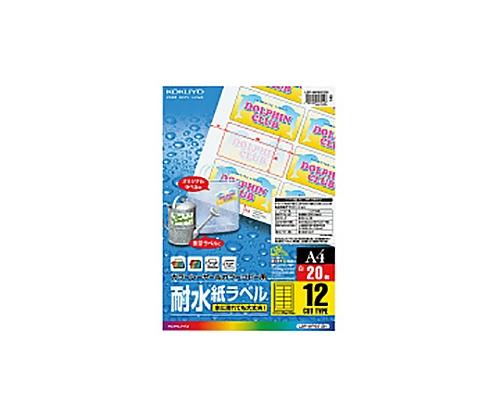 カラーLBP&コピー用耐水紙ラベル A4 12面カット LBP-WP6912N(20枚)