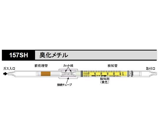 北川式 ガス検知管 臭化メチル 157SH