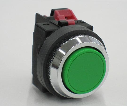 平形押ボタンスイッチ 緑 ABN101G