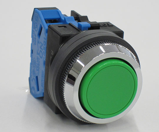 平形押ボタンスイッチ 緑 ABN110G