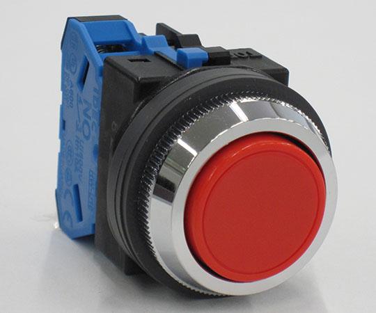 平形押ボタンスイッチ 赤 ABN110R