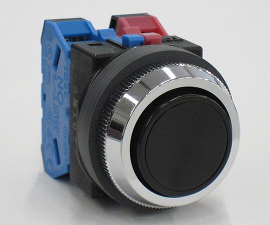 平形押ボタンスイッチ 黒 ABN111B