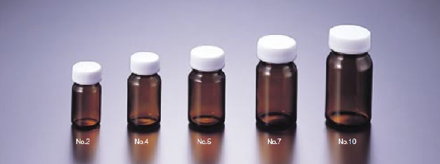 0612-83 軽量規格瓶 褐色 No.13(50本) マルエム