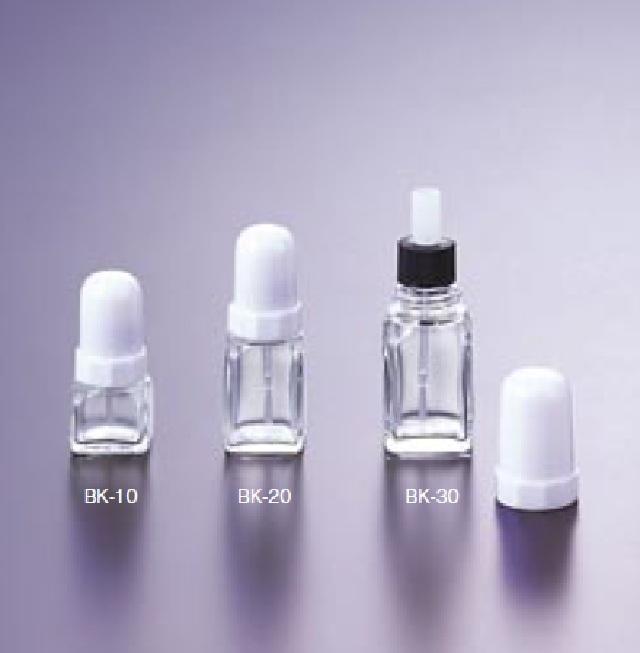 0814-03 角型ブリストル瓶 透明 RK-30(24本) マルエム